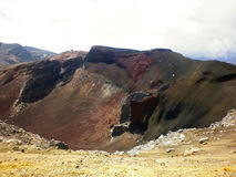 -Red Crater on the top of Tongariro Volcano, Tongariro Crossing National Park. Red Crater on the top of Tongariro Volcano, Tongariro Crossing National Park - New Royalty Free Stock Photo