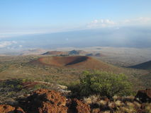 Red craters of Mauna Kea Stock Photos