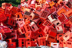 Red crates Stock Images