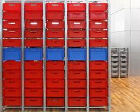 Red crates Stock Image
