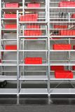 Red crates storage Royalty Free Stock Images