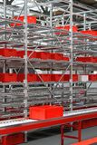 Red crates warehouse Stock Photo