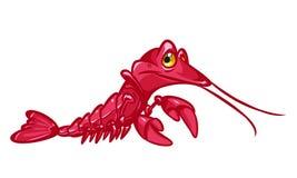Red  Crayfish cartoon illustration Stock Image