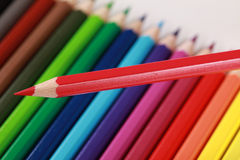 Red crayon Stock Photos