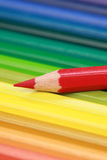 Red Crayon Stock Images