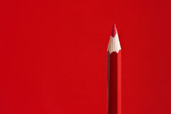 Red Crayon Stock Photo