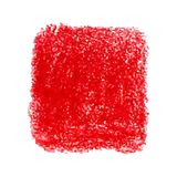 Red crayon scribble texture stain isolated on white background. Vector colorful detailed backdrop with crayon scribble texture texture. Abstract stain isolated Stock Photo