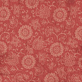 Red and Cream Bandana Fabric Background Royalty Free Stock Photo