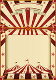 Red and cream circus poster Royalty Free Stock Image