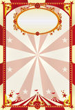 Red and cream poster with a big top Royalty Free Stock Photography