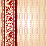 Red and cream saree design Royalty Free Stock Photo