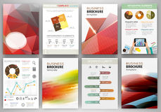 Red creative backgrounds and abstract concept infographics Royalty Free Stock Photos
