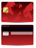 Red credit card Stock Photos