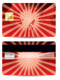 Red credit card design Royalty Free Stock Images