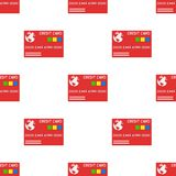 Red Credit Card Icon Seamless Pattern Royalty Free Stock Photo