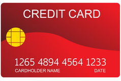 Red credit card Stock Photo