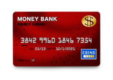 Red Credit Card Stock Photography