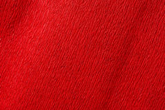 Red crepe paper stock image