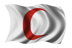 Red Crescent Flag Stock Images