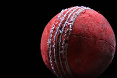 Red cricket ball Stock Photography