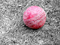 Red Cricket Ball Stock Photo