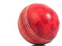 Red cricket ball Stock Photos