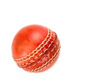 Red cricket ball, isolated Royalty Free Stock Images