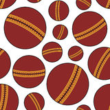 Red Cricket Ball Seamless Pattern Royalty Free Stock Photos
