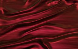 Red or crimson satin cloth abstract background. 3d Illustration Red or crimson satin cloth abstract background Smooth and elegant design Stock Image