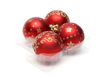 Red cristmas balls Stock Images