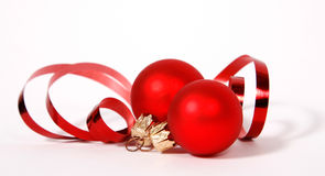 Red Cristmas balls Royalty Free Stock Photography