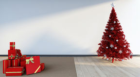 Red cristmas tree Royalty Free Stock Photography
