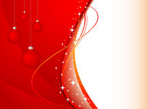 Red cristmas vector baackground with stars Royalty Free Stock Photo