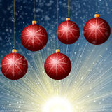 Red Cristmass background Royalty Free Stock Photos