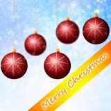 Red Cristmass background Stock Photography