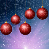 Red Cristmass background Stock Images