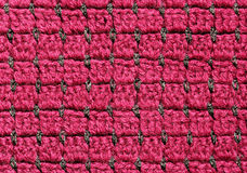 Red crochet fabric Royalty Free Stock Photo