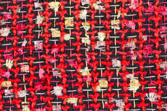 Red Crochet Fabric Texture Royalty Free Stock Photography