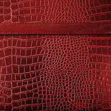Red crocodile leather texture background Stock Photos