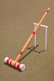 Red Croquet Mallet Royalty Free Stock Photo