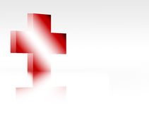 Red  cross. Red cross over white background. isolated illustration Stock Photos