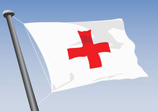 Red Cross. Vector flag of the red cross Royalty Free Stock Photos