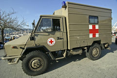 Red Cross. Military Ambulance of the Italian Red Cross royalty free stock image