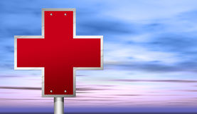 Red cross Stock Photo