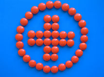 Red cross 2. Of orange pills royalty free stock images