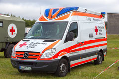Red Cross ambulance Stock Photo