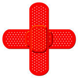 Red cross bandaid Stock Photos
