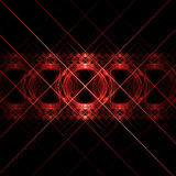 Red cross circle pattern. Abstract red cross circles pattern on dark background Royalty Free Stock Photography