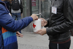RED CROSS DONATION COLLECTION DAY Stock Image