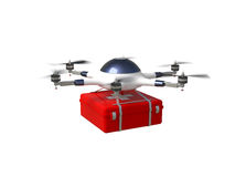 Red cross drone Stock Images